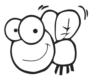 Fly Cartoon Clipart Image   Cute Little Cartoon Fly With A Big Smile