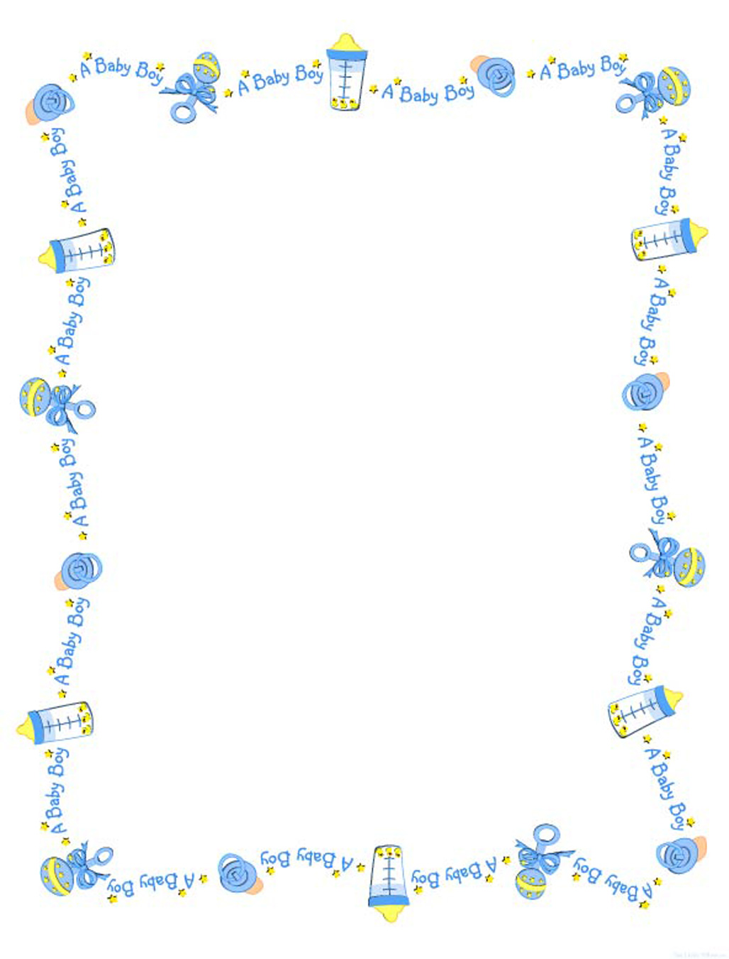 free baby shower clip art borders and frames