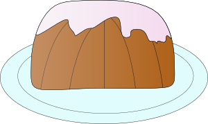Free Vector Pound Cake Clip Art 112897 Pound Cake Clip Art Medium Png