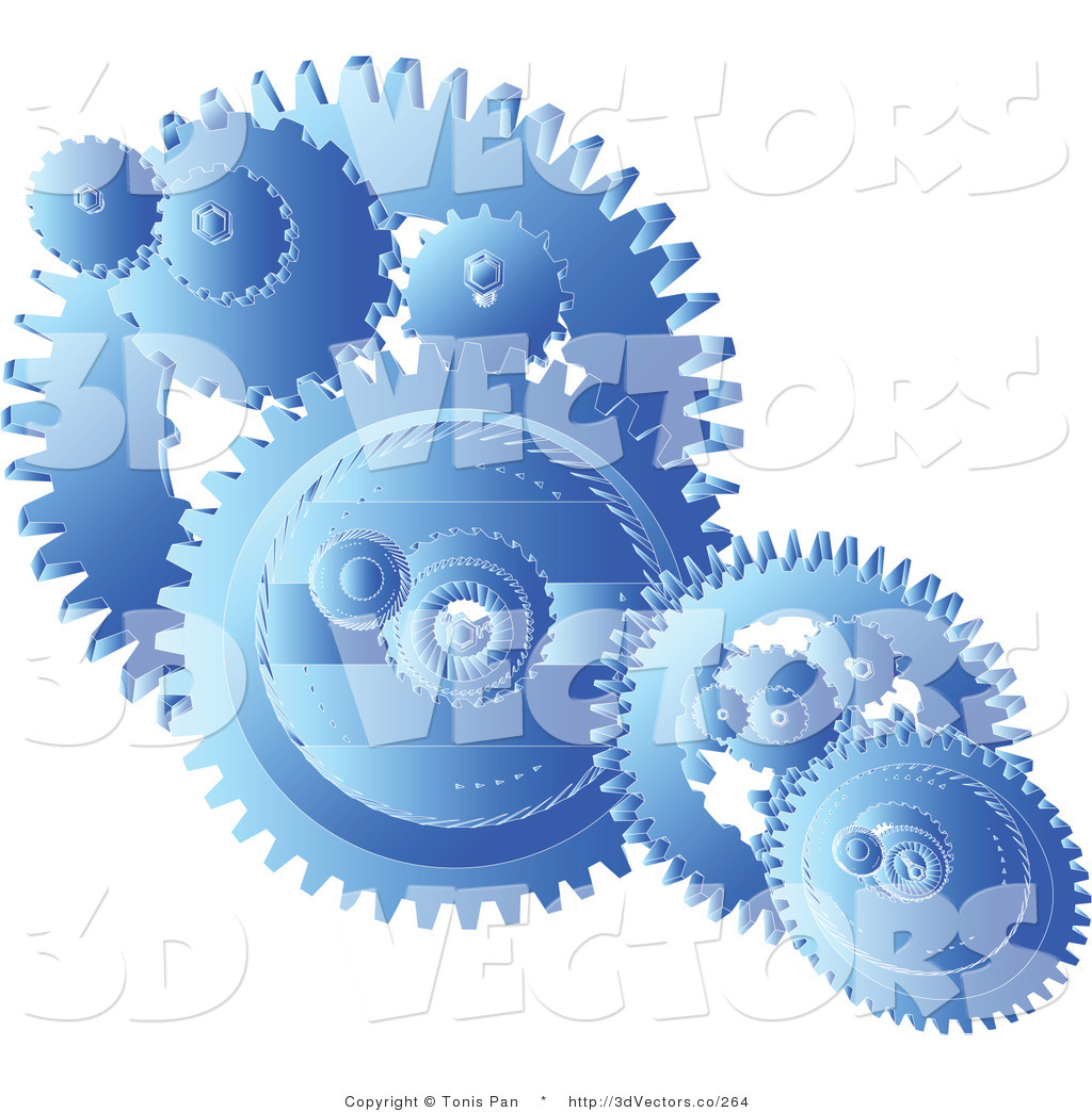 Gear Clipart Clipart Of Blue Gears Cogs