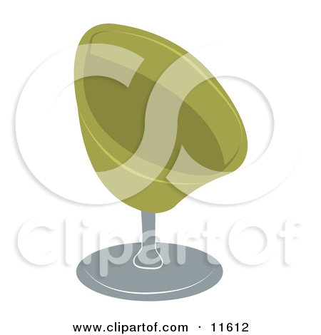 Green Oval Chair Clipart Illustration By Geo Images