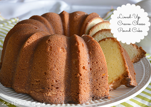 Limed Up Cream Cheese Pound Cake