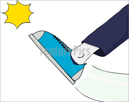 No Kicking Clipart Illustration Of Generic Foot Kicking