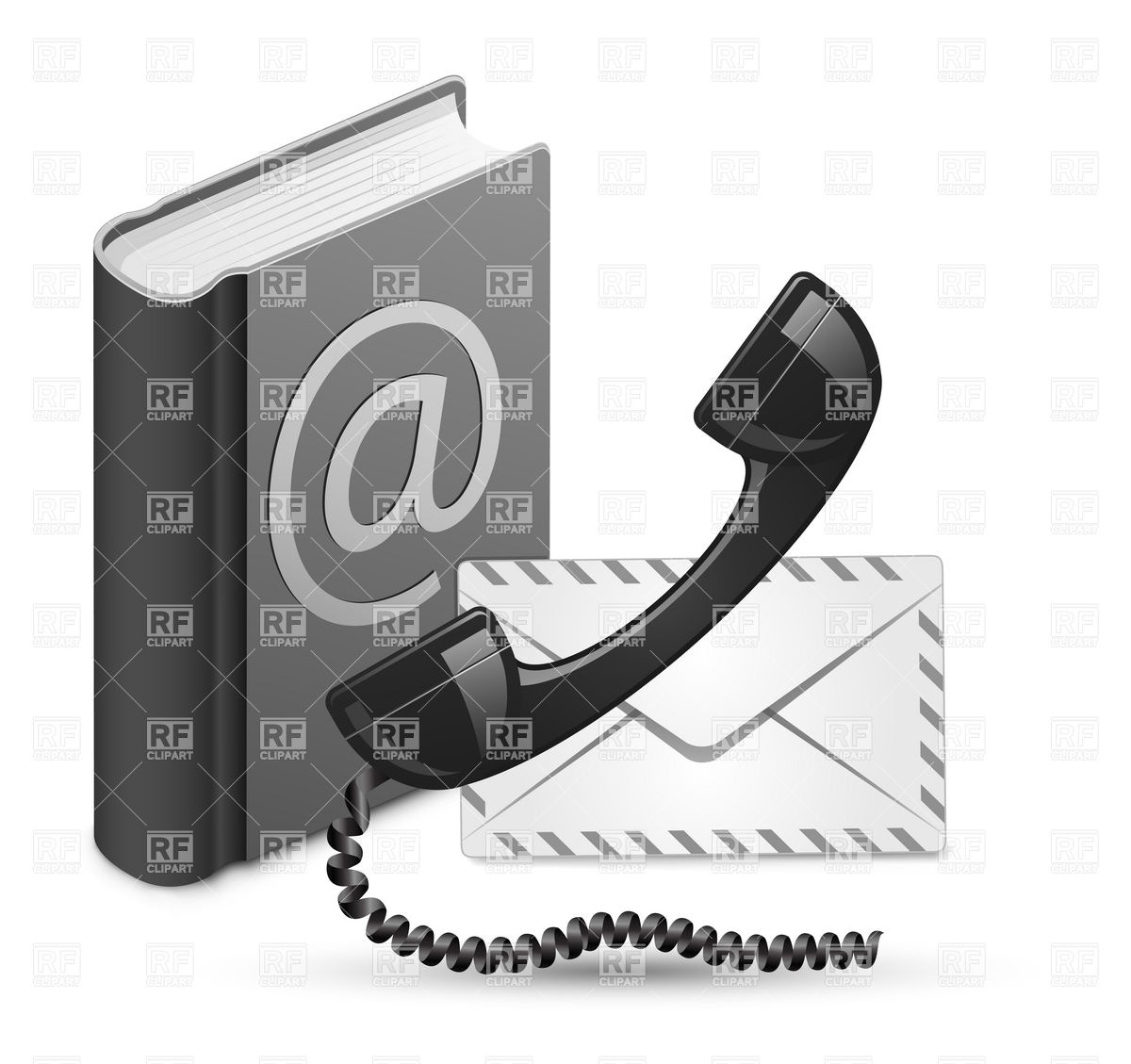 Phone Receiver Address Book Download Royalty Free Vector Clipart