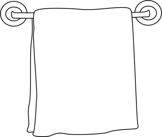 Towel Clip Art: Towel Black And White Clipart