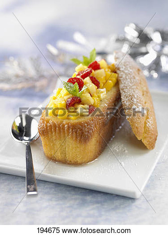 Pound Cake Stuffed With Fresh Fruit View Large Photo Image