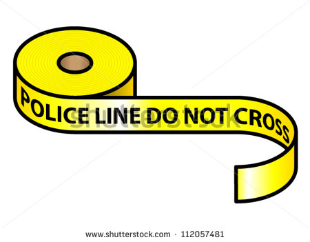 Roll Of Yellow Police Tape  Police Line Do Not Cross   Stock Vector