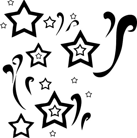Star swirl clipart clipart suggest for Swirl tattoo designs