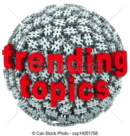 Stock Illustration   Trending Topics Hot Post Update Message Hash Tag