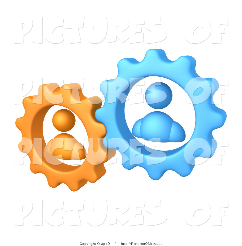 Vector Clipart Of Orange And Blue Avatar Gears By 3pod    230