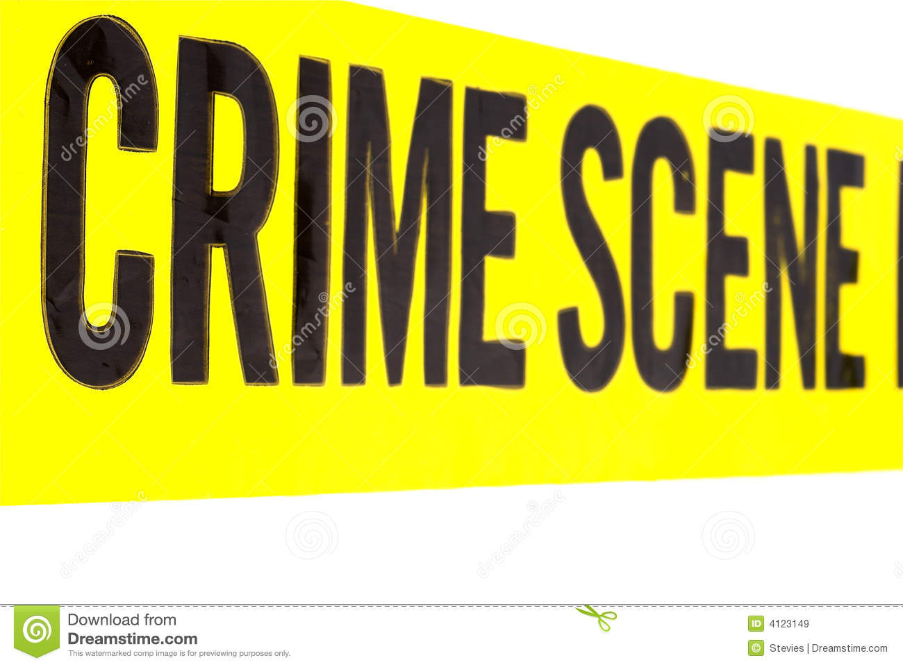 Vivid Crime Scene Tape Royalty Free Stock Images   Image  4123149