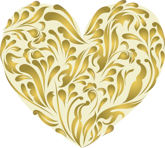 10 Gold Heart Free Cliparts That You Can Download To You Computer And