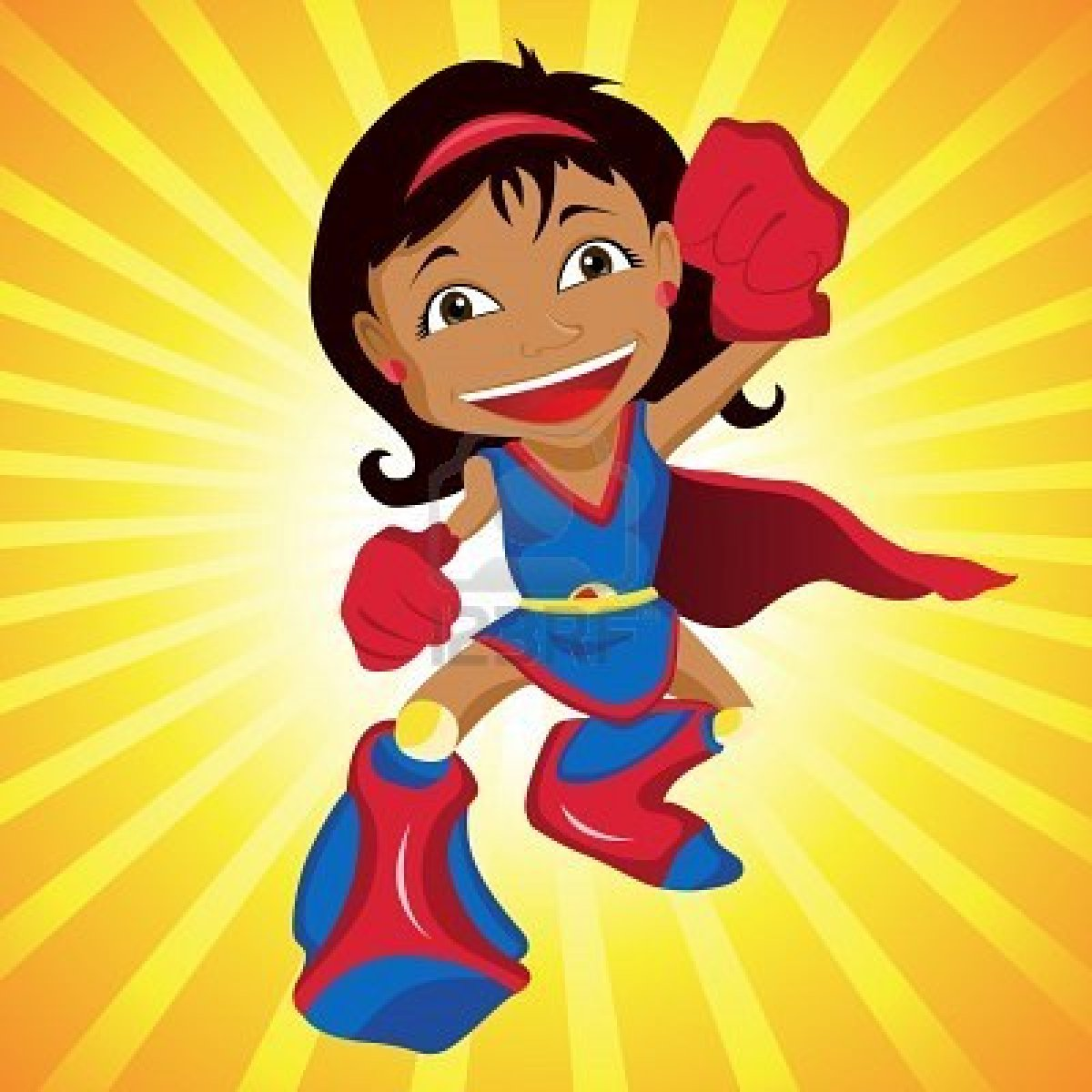 super girl clipart   clipart suggest