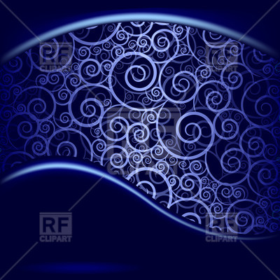 Abstract Blue Background With Waves And Curls 21186 Download Royalty