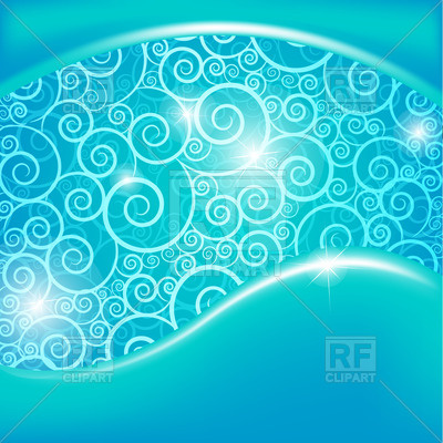 Blue Background With Curls Download Royalty Free Vector Clipart  Eps