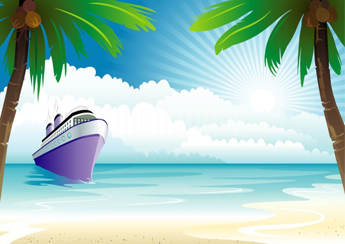 Bon Voyage Cruise Ship   Wall Murals   Wall Decals   Posters   Prints