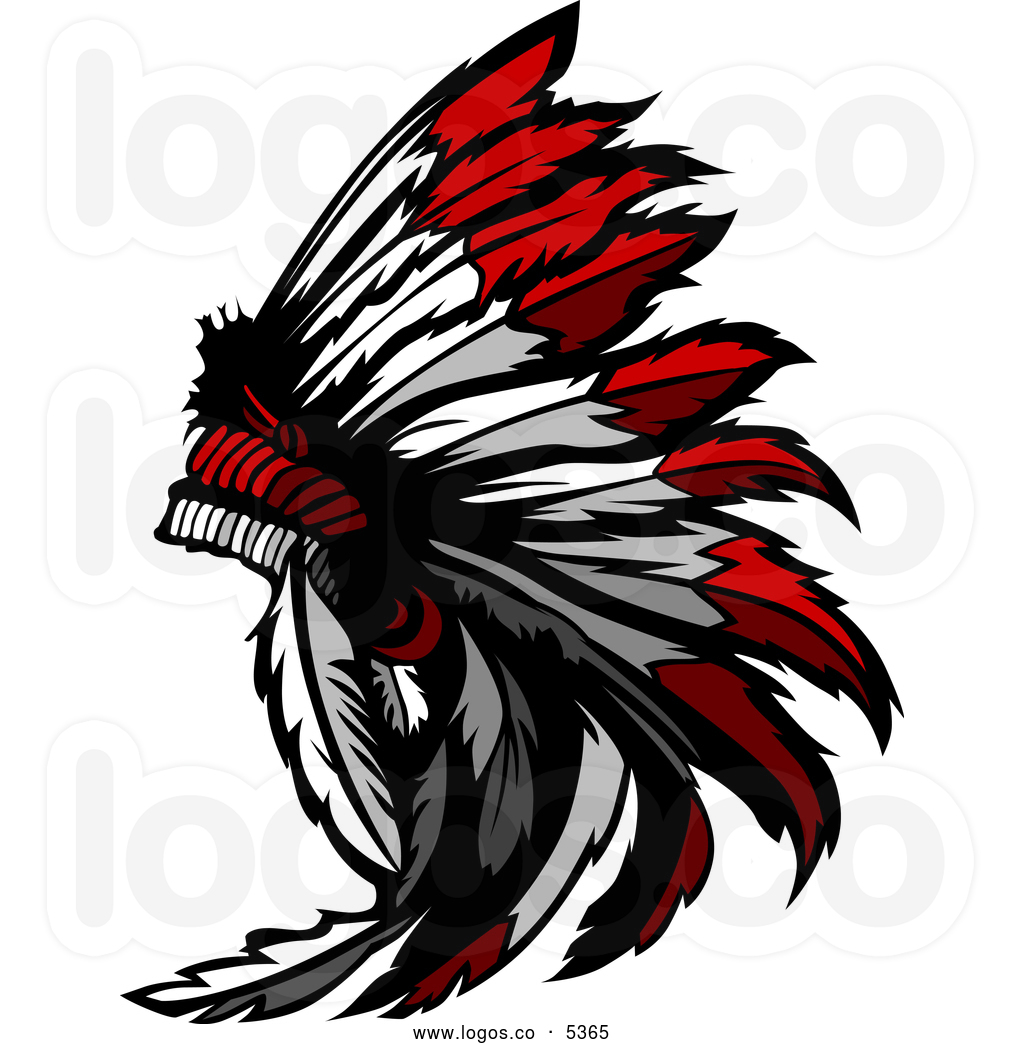 Chief Clipart Royalty Free Vector Of A Logo Of A Native American Chief