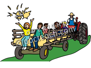 Clip Art Hayride Clipart clip art of hayride and bonfire clipart kid tractor with children riders color fall