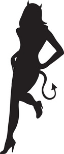 Devil Woman Clipart Image   Sexy Devil Girl