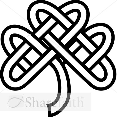 F1310412aaceltic Knot Shamrock   Lay Holiday Clipart