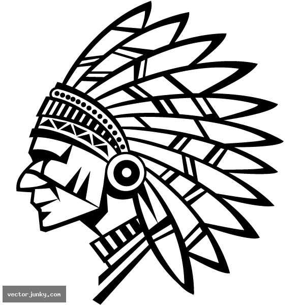 High Quality Vector American Indian Vector