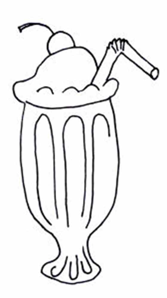 root beer float coloring pages - photo#8