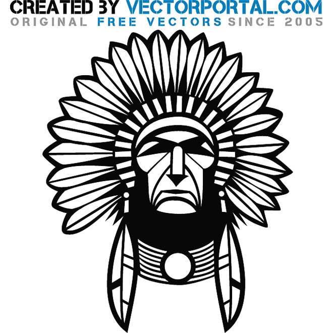 Indian Chief Graphics Vector   Download At Vectorportal