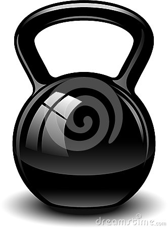 Kettlebell Clipart Kettle Bell Over White Eps