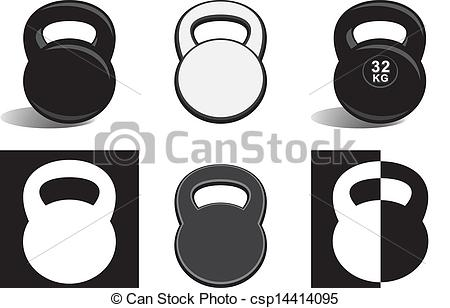 Kettlebell Clipart Monochrome Kettlebells On