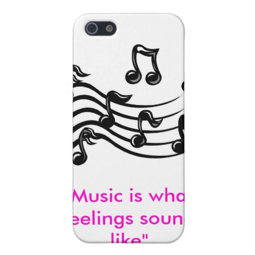 Music Clipart Music Is What Feelings Sound Like Iphone 5 Cases
