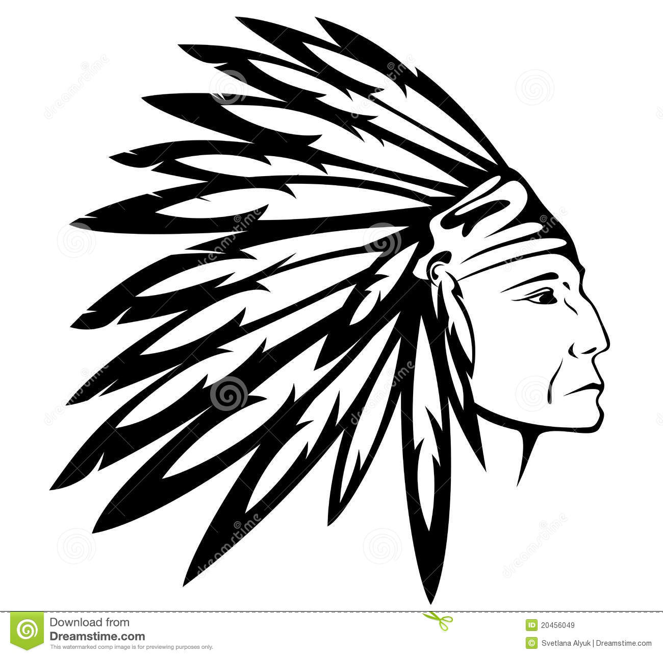 Native American Indian Chief Vector Royalty Free Stock Images   Image