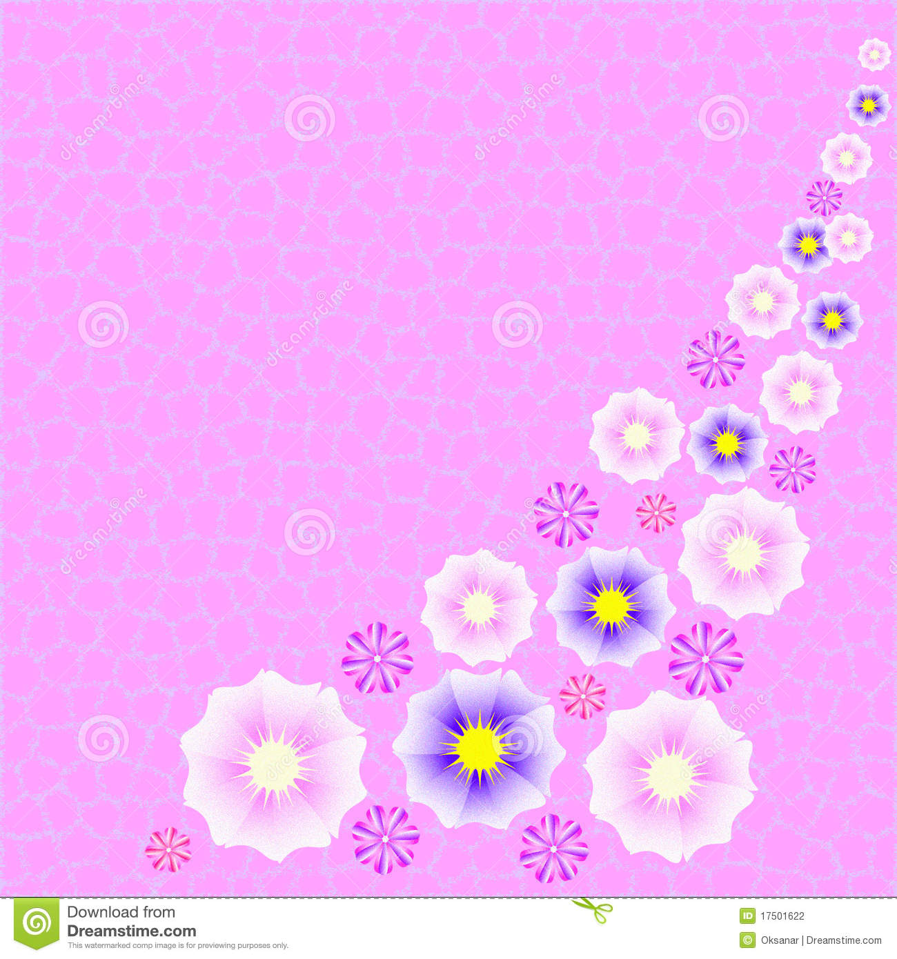 Pink Fuzzy Floral Background Stock Photography   Image  17501622