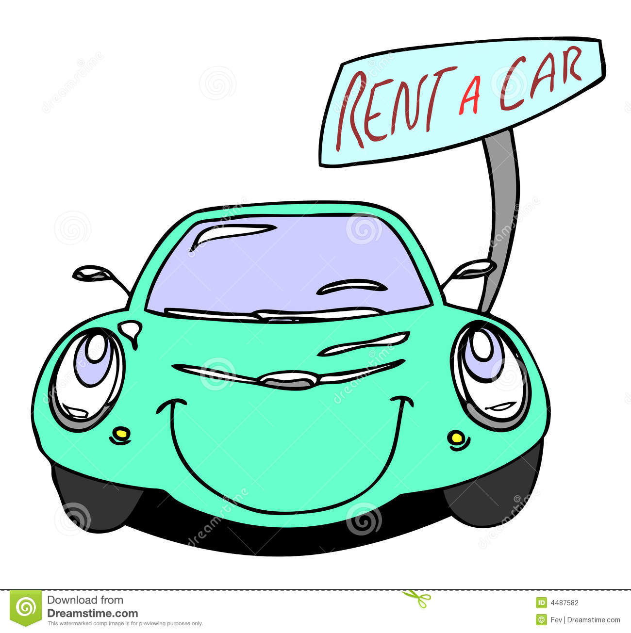 Rent A Car Stock Photography   Image  4487582