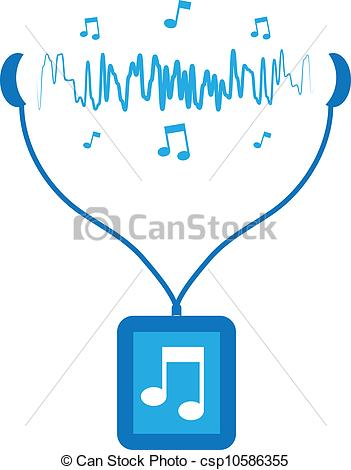 Sound Waves Clipart Music Player Soundwaves