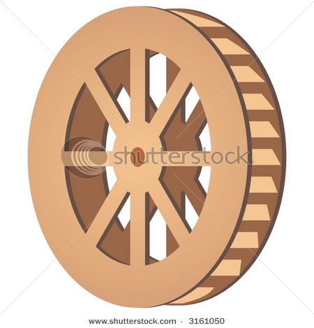 Stock Vector Mill Wheel   Free Images At Clker Com   Vector Clip Art