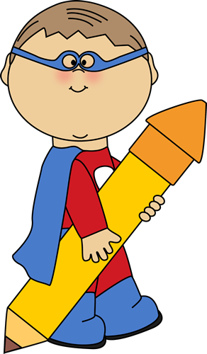 Superhero Boy With A Big Pencil Clip Art   Superhero Boy Flying Image