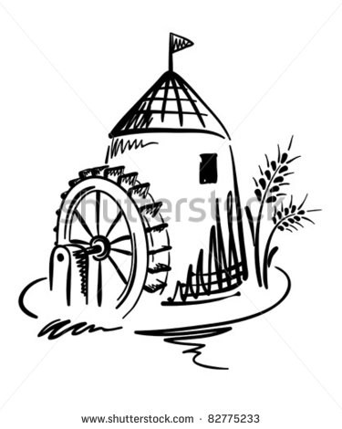 Water Mill Stock Photos Illustrations And Vector Art