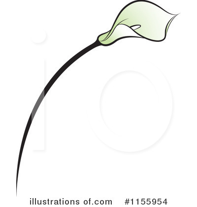 Calla Lily Clip Art Black And White Royalty Free  Rf  Lily Clipart
