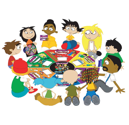 Group Of Kids Talking Clipart group sitting and talking clipart ...