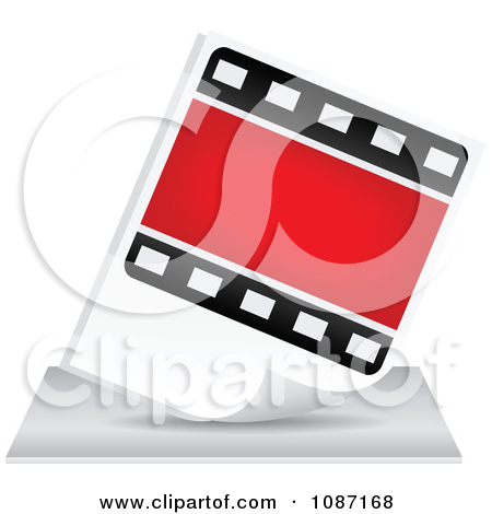 Clipart Photo Film Strip Icon   Royalty Free Vector Illustration By