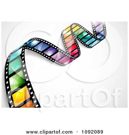 Clipart Waving Colorful Flare Film Strip With Shading And Gradients