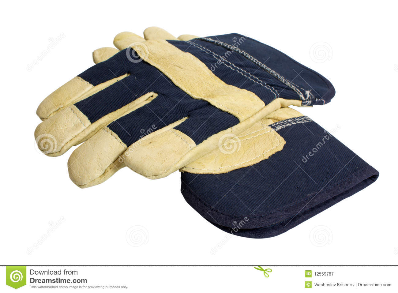 Denim Work Gloves Royalty Free Stock Photography   Image  12569787