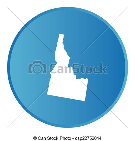 Eps Vector Of 3d Button With The Shape Of American State   Idaho   A
