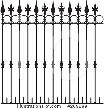Fence Clipart  209299 By Frisko   Royalty Free  Rf  Stock