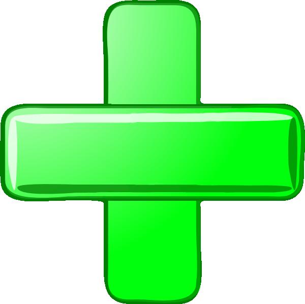 Green Plus Minus Hi   Free Images At Clker Com   Vector Clip Art