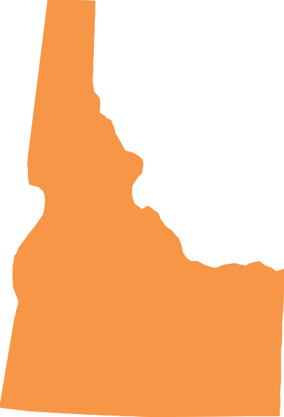 Idaho Shape   Orange Clip Art