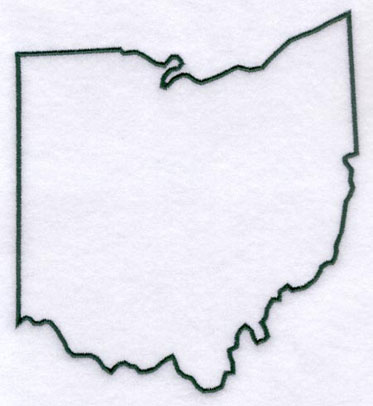Ohio Outline Vector Ohio State Outline Vector Ohio