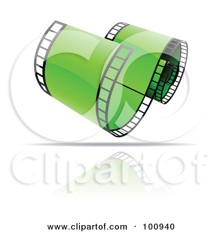 Rf  Clipart Illustration Of A Curling Green Film Strip Icon By Cidepix