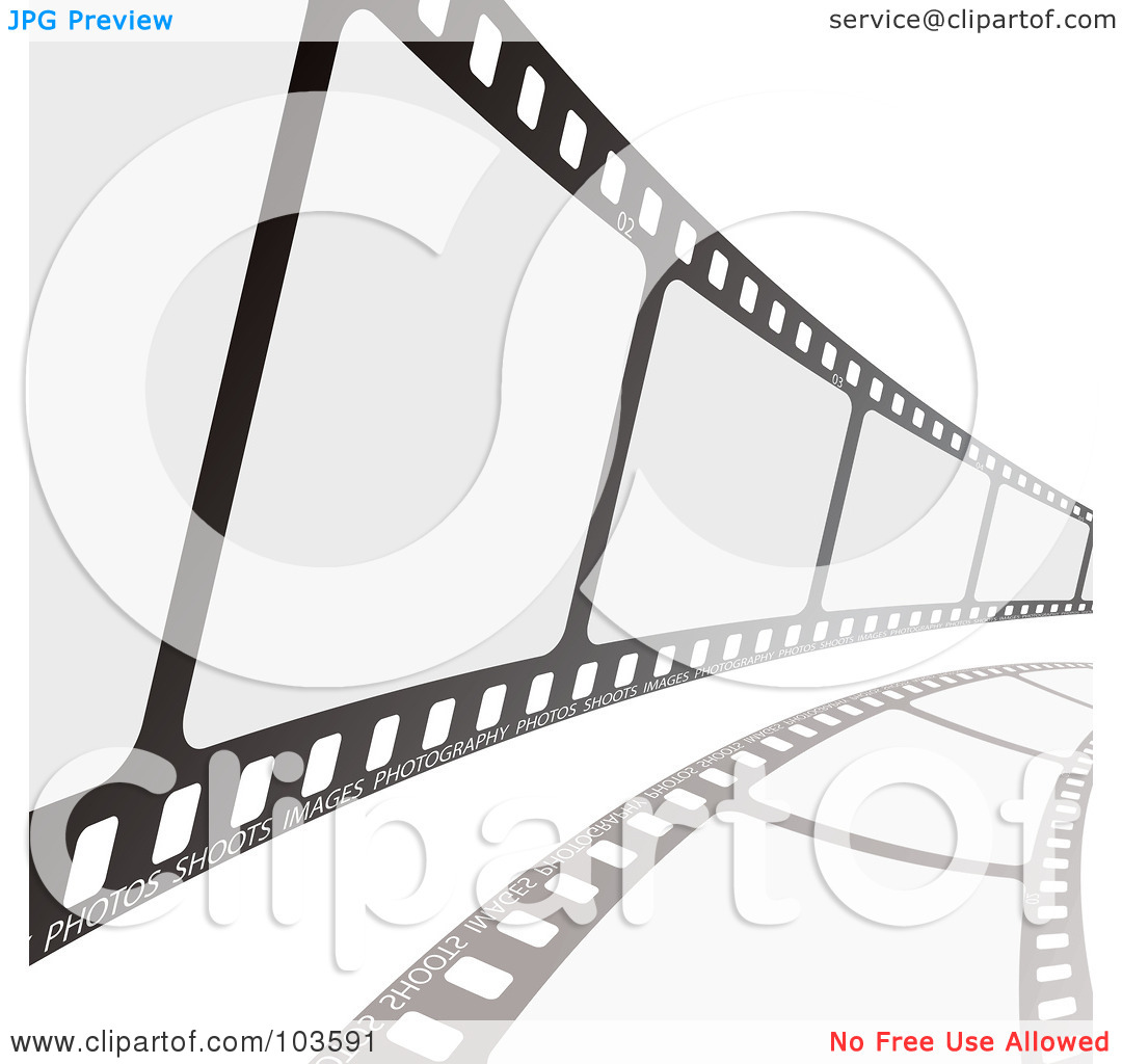 Royalty Free  Rf  Clipart Illustration Of A Film Strip Curving To The
