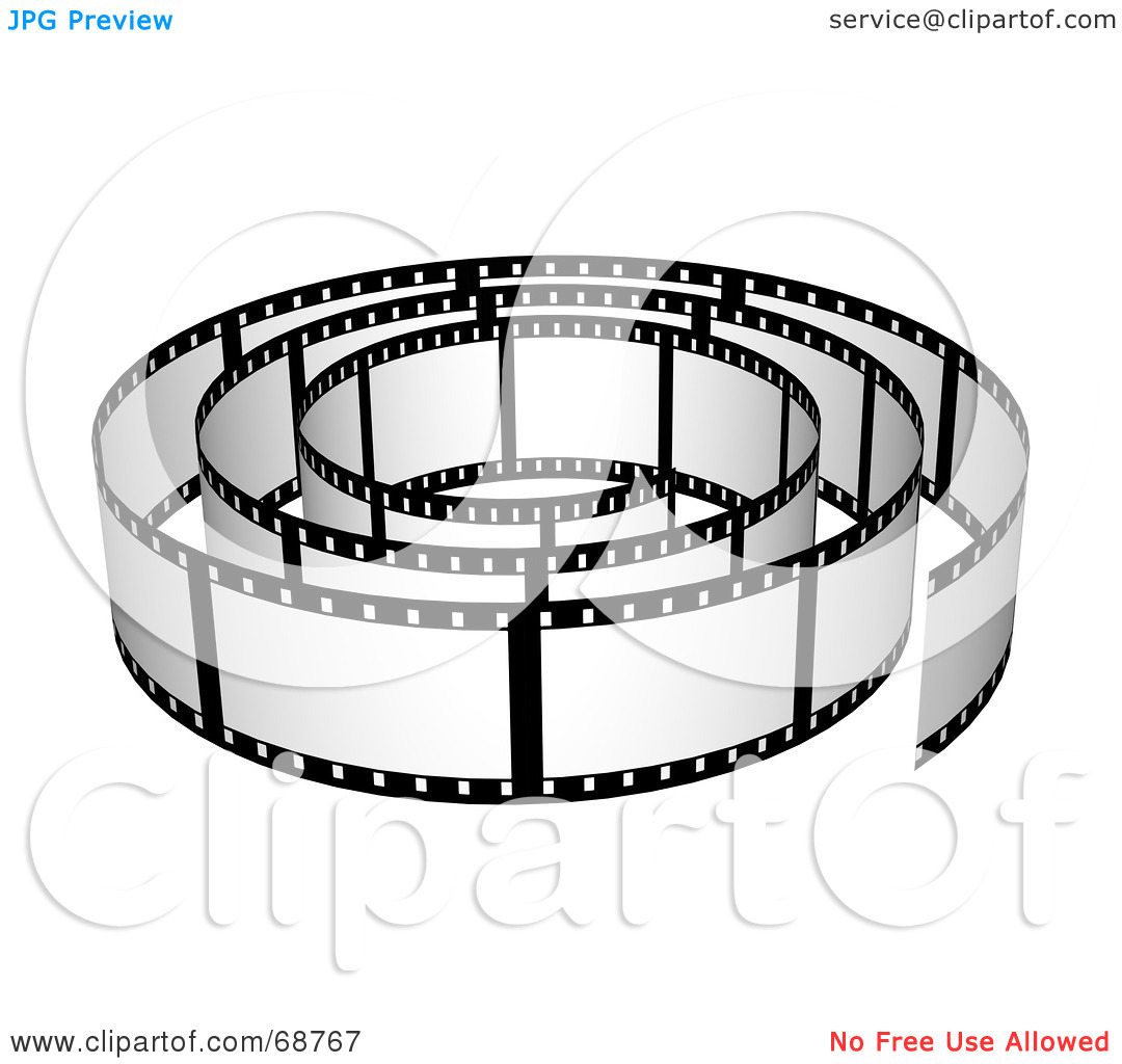 Royalty Free  Rf  Clipart Illustration Of A Film Strip Roll With Blank